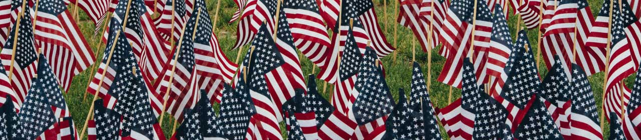 Patriotic Image of the American Flag and Dog Tags